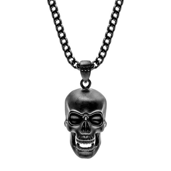 Skull Necklace - Black – Marco