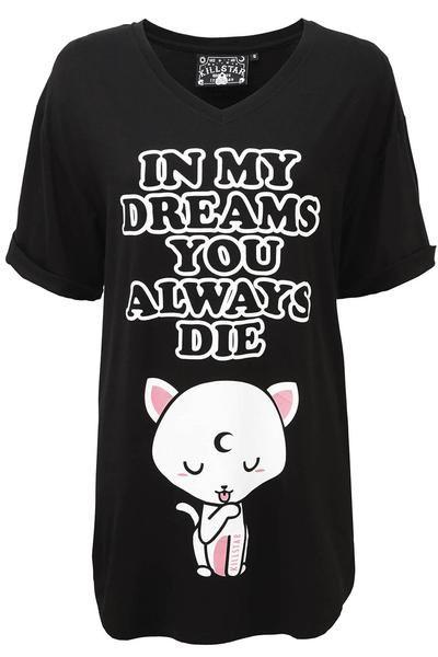 Dreams Sleep Shirt [B] - XS / Black | Sleep shirt, Killstar .