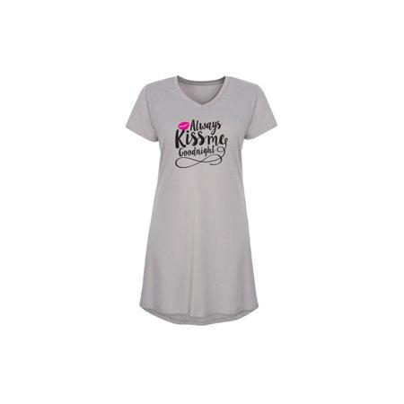 Always Kiss Me Goodnight - Ladies Sleep Shirt Nightgown - Walmart.c