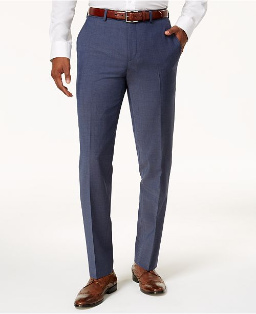 Bar III Men's Slim-Fit Active Stretch Suit Pants, Created for .
