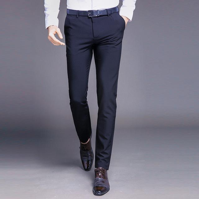 Men Dress Pants Formal Pants Slim Fit Suit Pants Business Casual .