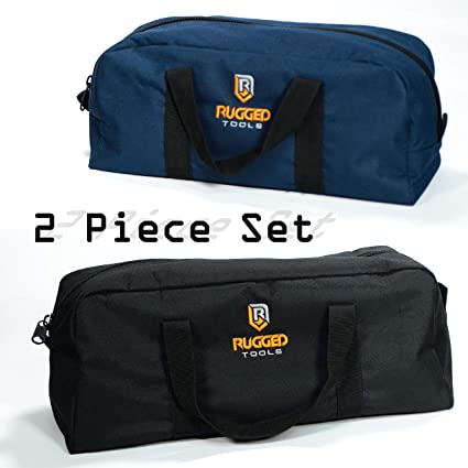 Rugged Tools Tool Bag Combo - Includes 1 Small & 1 Medium Toolbag .