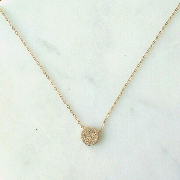 Nadri Jewelry | Small Geo Gold Pav Pendant | Poshma