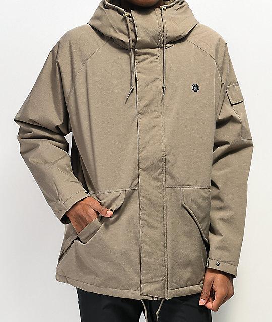 Volcom Synthwave Khaki 5K Snowboard Jacket | Zumi