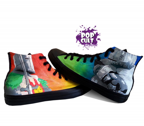 Dark Souls   Video Game Hand Painted Canvas Converse Shoes .