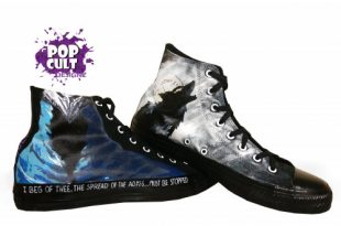 Artorias and Sif (dark souls) | Hand Painted Canvas Converse Shoes .