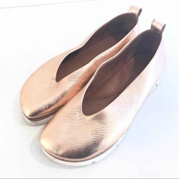 gentle souls Shoes   Demi Rose Gold Flat 8 12 M   Poshma