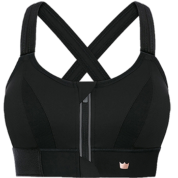 Ultimate Sports Bra - Front Zip, Adjustable, High Impact Sports .