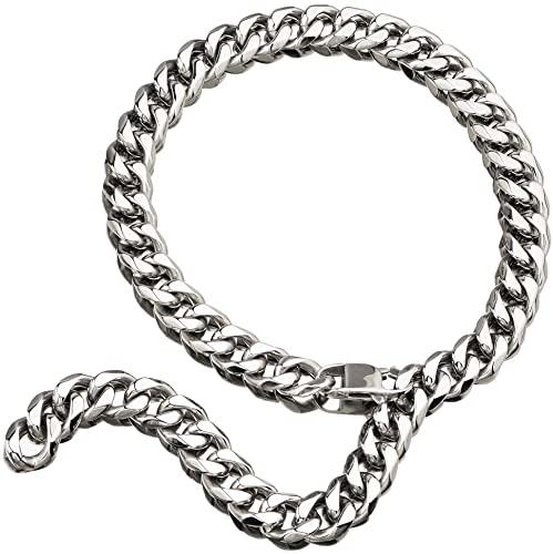 Hip Hop Mens Choker Stainless Steel Miami Chain Curb Cuban Link .