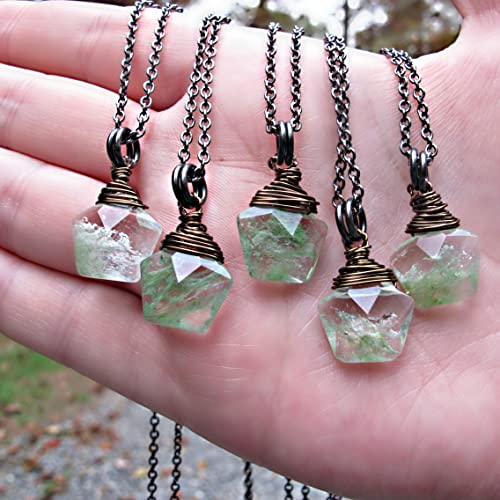 Amazon.com: Crystal Necklace, Moss Agate Necklace - Natural Stone .