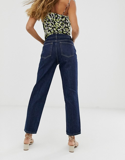 & Other Stories straight leg jeans in dark blue | AS