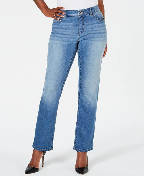 INC International Concepts INC Curvy-Fit Straight-Leg Jeans with .