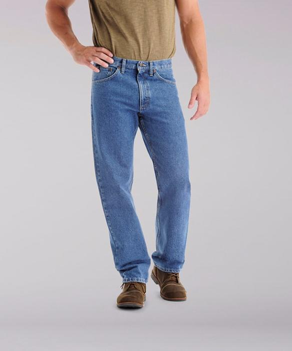 Lee Men's Regular Fit Straight Leg Jeans (Big & Tall) - Pepper .