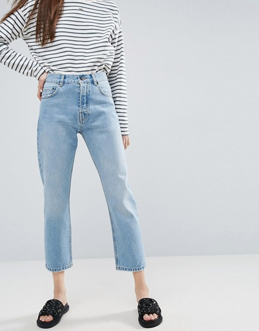 ASOS DESIGN Florence authentic straight leg jeans in cambridge .