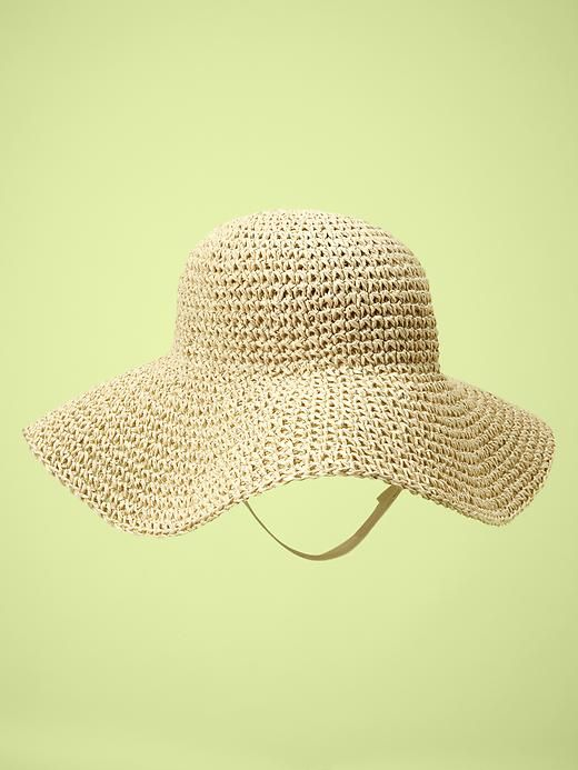 Baby Girl: Floppy Straw Hat in Neutral ... pair this with that .