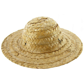 "3"" - 10 Pieces Round Top Straw Hat 