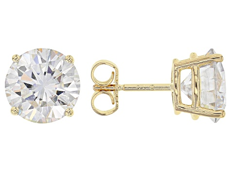 Moissanite 14k Yellow Gold Stud Earrings 5.40ctw DEW. - MSJ297 .