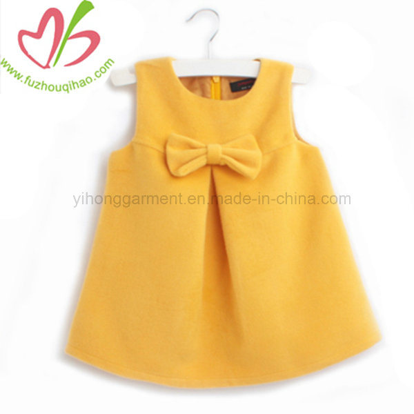 China New Style Butterfly Knot Baby Girl Summer Dress - China .