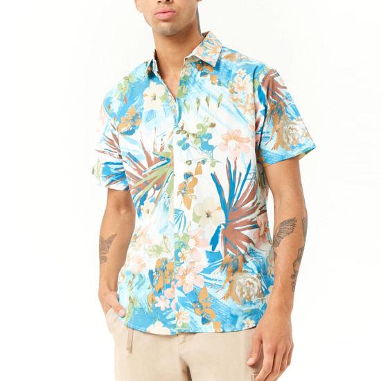 China Summer Wear Men Short Sleeve Floral Print Shirt - China Men .