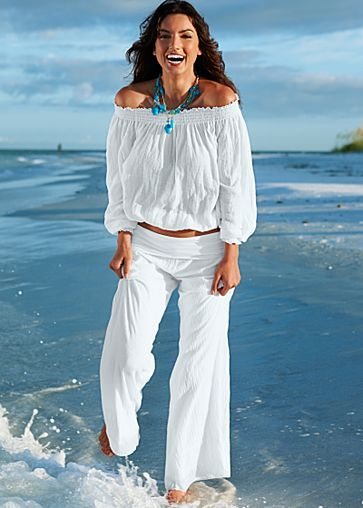 Beach Wear :) totally want an outfit like this for cruising. | Fashi