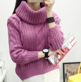 Zm33008a College Girls Latest High Neck Sweater Trendy High Neck .