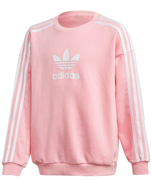 adidas Big Girls Trefoil Graphic Sweatshirt & Reviews - Sweaters .
