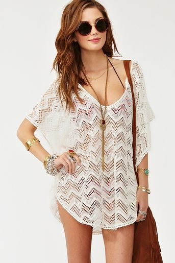 bathing suit cover up..that I'd wear as a top with jeans or shorts .