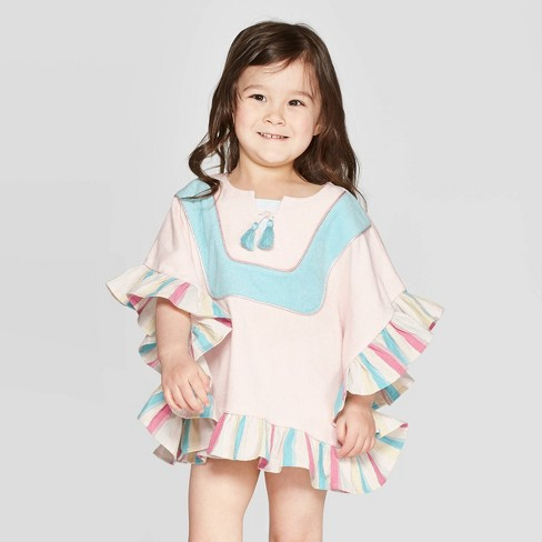 Mila & Emma Toddler Girls' Swim Cover-Up - Pink : Targ