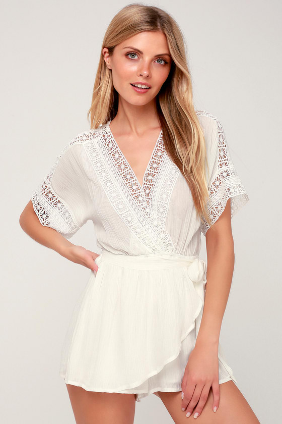 Chic White Swim Cover-Up - Lace Swim Cover-Up - Romp
