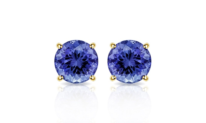 Up To 79% Off on Tanzanite Earrings in 10K Gold | Groupon Goo