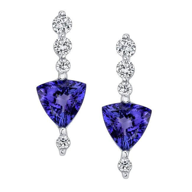 Barkev's Tanzanite & Diamond Earrings 6703E | Barkev