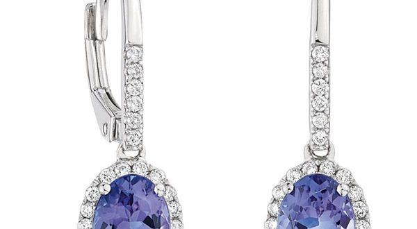 Tanzanite & Diamond Earrings 14K | Ben Bridge Jewel