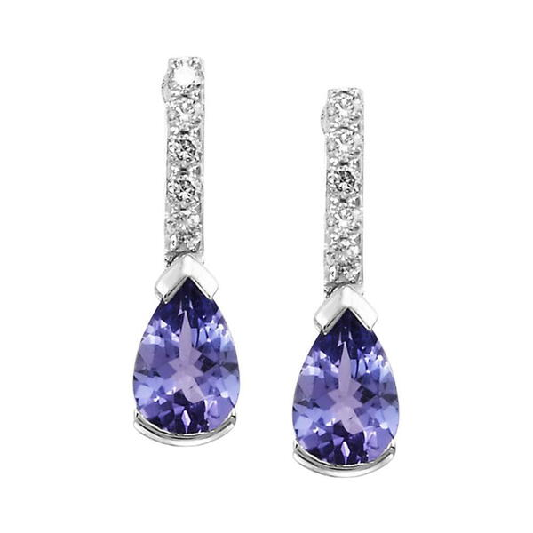 Parle White Gold Tanzanite Earrings EPF070FT2WI 14KW Natick | H .