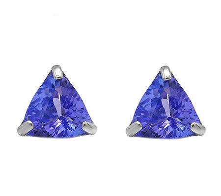 14K White Gold 1.25 cttw Tanzanite Earrings — QVC.c
