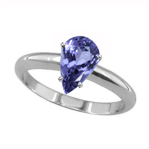 1 Carat Pear Tanzanite Ring in Sterling Silver | Jessup's of Melbour