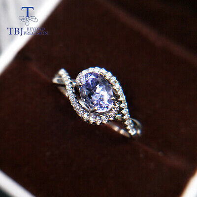 tanzanite rings natural gemstone 925 sterling silver ring simple .