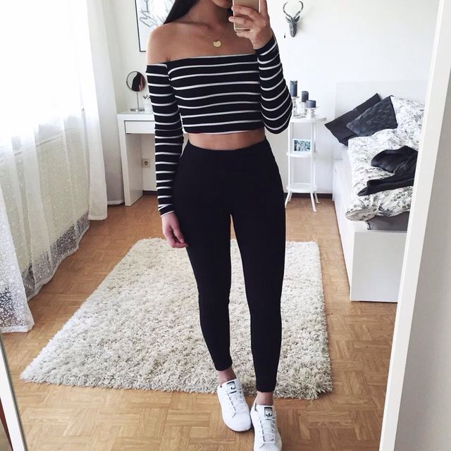 Outfit, Fashion, Style, Leggings, Pants, Skinny, Jeans | Idee .