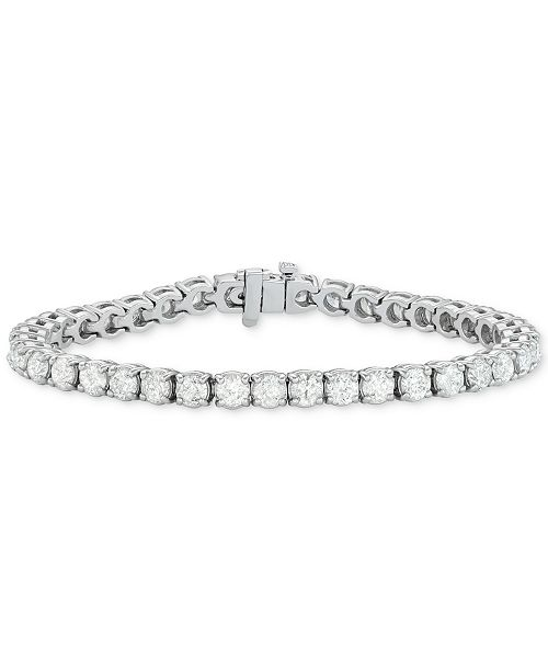 Macy's Diamond Tennis Bracelet (12 ct. t.w.) in 14k White Gold .