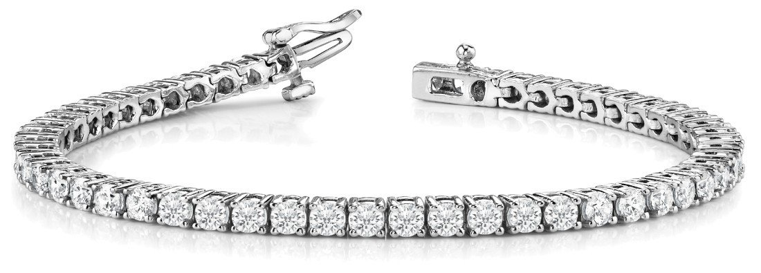 21 Carat Round Diamond Tennis Bracelet 14k, 18k or Platinum, High .