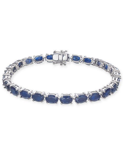 Macy's Sapphire Tennis Bracelet (25 ct. t.w.) in Sterling Silver .