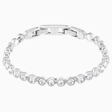 Tennis Bracelet, White, Rhodium plated | Swarovski.c