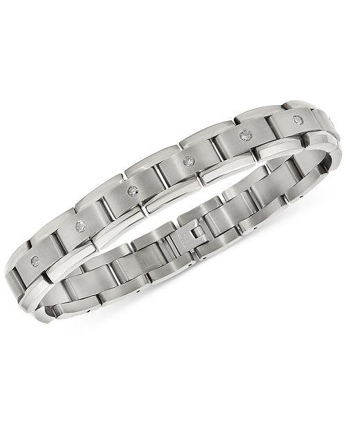 Macy's Men's Diamond Link Bracelet (1 ct. t.w.) in Titanium .
