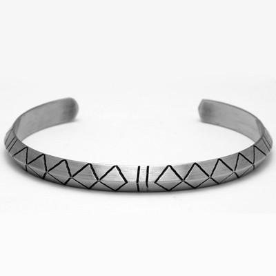 Classic Geometric Titanium Bracelet for Men – Menstyli