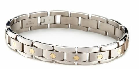 Men's Titanium Bracelet with 14k Gold Elements only $349.00 .