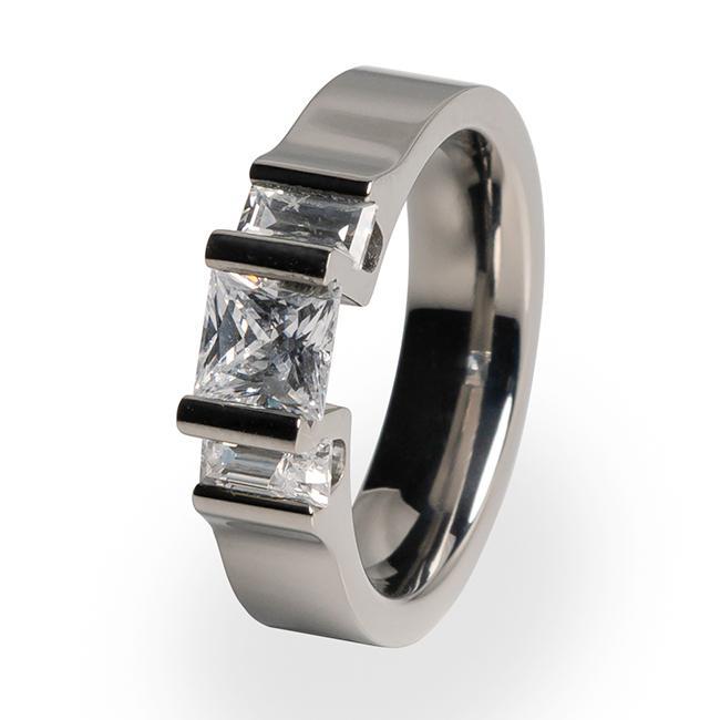 Cathedrale - Womens Diamond Titanium Engagement Ring   Titanium Rin
