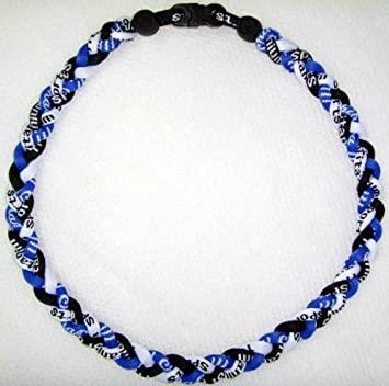 "Amazon.com: 20"" Titanium Sports Necklace - Blue/white/black ."