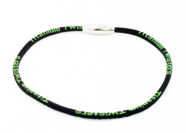 Black & Shamrock Green Titanium Baseball Necklace for Kids » RallyRo