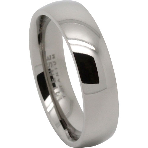 Titanium Thin Mens Wedding Ring Brushed Fini