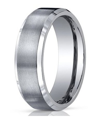 7mm Men's Benchmark Titanium Wedding Band with Satin Finish and .