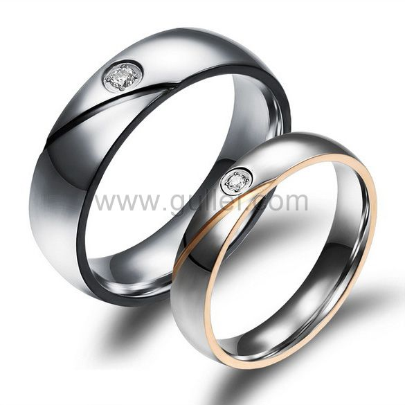 Engraved Titanium Wedding Rings for Men and Women Personalized .